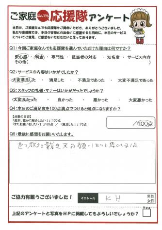 矢板市の不用品処分(K・H様)