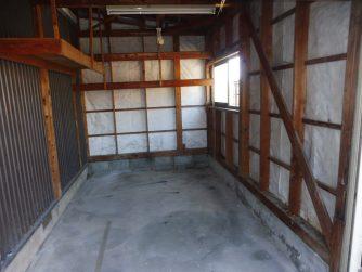 三種町 車庫内の不用品回収